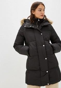 Пуховик, Springfield, цвет: черный. Артикул: SP014EWGEZA7. Одежда / Верхняя одежда / Пуховики и зимние куртки / Пуховики