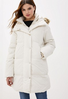 Пуховик, Springfield, цвет: белый. Артикул: SP014EWGEZA8. Одежда / Верхняя одежда / Пуховики и зимние куртки / Пуховики