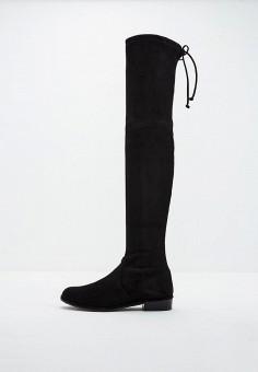 Ботфорты, Stuart Weitzman, цвет: черный. Артикул: ST001AWFPIP4. Обувь / Сапоги