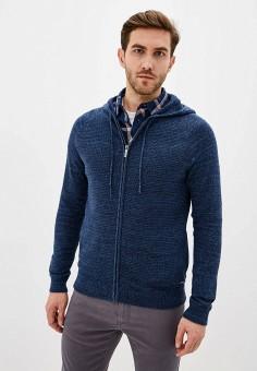 Кардиган, Strellson, цвет: синий. Артикул: ST004EMHMLY1. Одежда / Джемперы, свитеры и кардиганы / Кардиганы