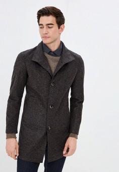 Пальто, Strellson, цвет: коричневый. Артикул: ST004EMKEWG2. Одежда / Верхняя одежда / Пальто