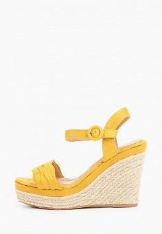 Босоножки, Stephan, цвет: желтый. Артикул: ST031AWIFHO6. Обувь / Босоножки