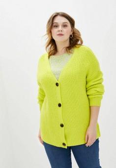 Кардиган, Studio Untold, цвет: желтый. Артикул: ST038EWHSSU0. Одежда / Джемперы, свитеры и кардиганы / Кардиганы