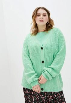 Кардиган, Studio Untold, цвет: зеленый. Артикул: ST038EWHSSV0. Одежда / Джемперы, свитеры и кардиганы / Кардиганы