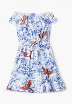 Платье, Stella Jean Kids, цвет: голубой. Артикул: ST076EGHTUY4. Девочкам / Одежда / Платья и сарафаны