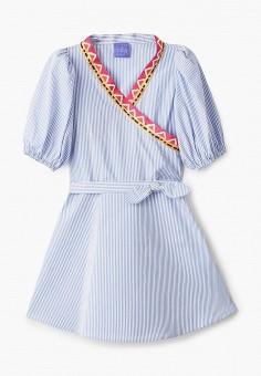 Платье, Stella Jean Kids, цвет: голубой. Артикул: ST076EGHTUY9. Девочкам / Одежда / Платья и сарафаны