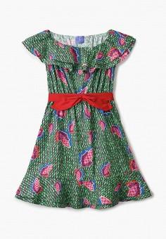 Платье, Stella Jean Kids, цвет: зеленый. Артикул: ST076EGHTUZ1. Девочкам / Одежда / Платья и сарафаны