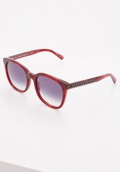 Очки солнцезащитные, Stella McCartney, цвет: бордовый. Артикул: ST977DWZHV33. Аксессуары / Очки