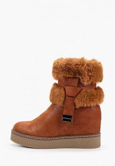 Полусапоги, Super Mode, цвет: коричневый. Артикул: SU013AWHMYJ8. Обувь / Сапоги / Угги и унты