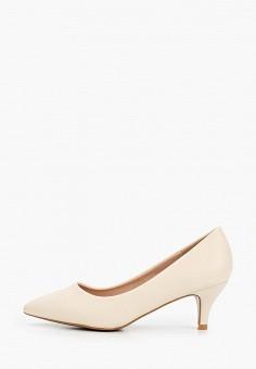 Туфли, Super Mode, цвет: бежевый. Артикул: SU013AWIJNU3. Обувь / Туфли / Лодочки