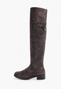 Ботфорты, Tamaris, цвет: серый. Артикул: TA171AWGAQT2. Обувь / Сапоги / Ботфорты