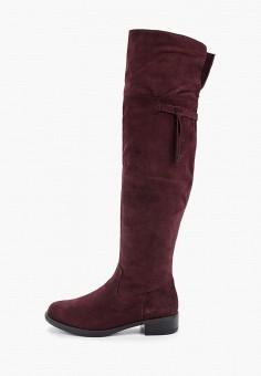 Ботфорты, Tamaris, цвет: бордовый. Артикул: TA171AWGAQT3. Обувь / Сапоги / Ботфорты
