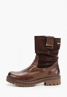 Полусапоги, Tamaris, цвет: коричневый. Артикул: TA171AWGAQV9. Обувь / Сапоги / Полусапоги