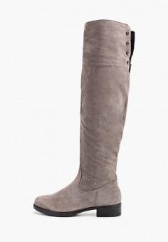 Ботфорты, Tamaris, цвет: серый. Артикул: TA171AWGAQW4. Обувь / Сапоги / Ботфорты