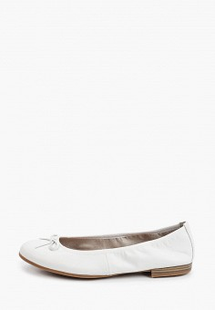 Балетки, Tamaris, цвет: белый. Артикул: TA171AWIJZG2. Обувь / Балетки