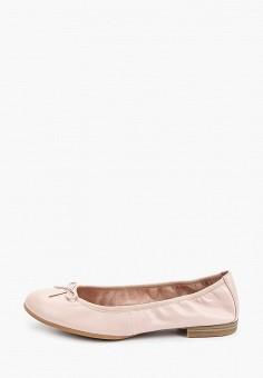 Балетки, Tamaris, цвет: розовый. Артикул: TA171AWIJZG4. Обувь / Балетки