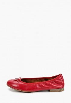 Балетки, Tamaris, цвет: красный. Артикул: TA171AWIJZG5. Обувь / Балетки