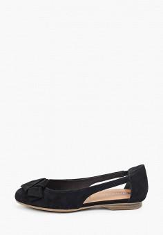 Балетки, Tamaris, цвет: черный. Артикул: TA171AWIJZM6. Обувь / Обувь с увеличенной полнотой
