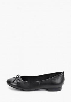 Балетки, Tamaris, цвет: черный. Артикул: TA171AWIJZN2. Обувь / Балетки