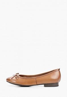 Балетки, Tamaris, цвет: коричневый. Артикул: TA171AWIJZN3. Обувь / Балетки