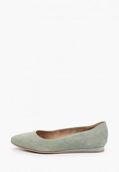 Балетки, Tamaris, цвет: зеленый. Артикул: TA171AWIJZO3. Обувь / Балетки