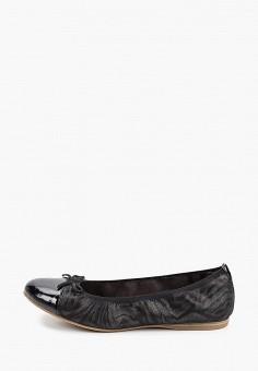 Балетки, Tamaris, цвет: черный. Артикул: TA171AWIJZO7. Обувь / Балетки