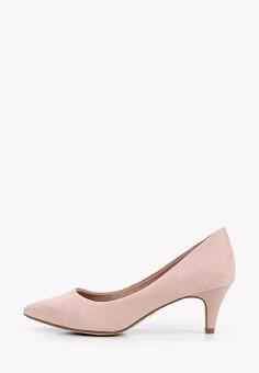 Туфли, Tamaris, цвет: розовый. Артикул: TA171AWIJZQ2. Обувь / Туфли / Лодочки