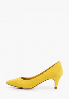 Туфли, Tamaris, цвет: желтый. Артикул: TA171AWIJZQ3. Обувь / Туфли / Лодочки