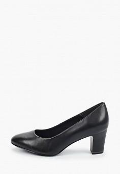 Туфли, Tamaris, цвет: черный. Артикул: TA171AWIJZR7. Обувь / Обувь с увеличенной полнотой