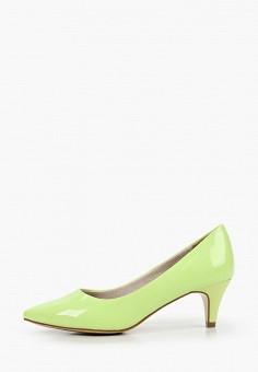 Туфли, Tamaris, цвет: зеленый. Артикул: TA171AWIJZX8. Обувь / Туфли / Лодочки