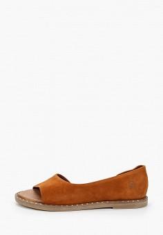 Туфли, Tamaris, цвет: коричневый. Артикул: TA171AWIKAB3. Обувь / Туфли