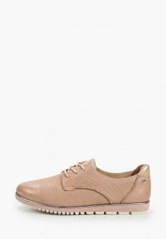 Ботинки, Tamaris, цвет: розовый. Артикул: TA171AWIKAE6. Обувь / Ботинки / Низкие ботинки