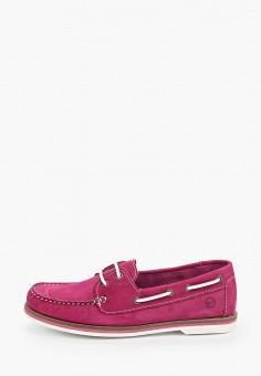 Топсайдеры, Tamaris, цвет: фиолетовый. Артикул: TA171AWIKAG4. Обувь / Обувь с увеличенной полнотой