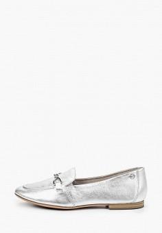 Лоферы, Tamaris, цвет: серебряный. Артикул: TA171AWIKAL8. Обувь / Туфли / Лоферы