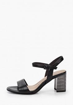 Босоножки, Tamaris, цвет: черный. Артикул: TA171AWIKAN7. Обувь / Босоножки