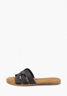 Сабо, Tamaris, цвет: черный. Артикул: TA171AWIKBA8. Обувь / Обувь с увеличенной полнотой