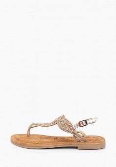Сандалии, Tamaris, цвет: бежевый. Артикул: TA171AWIKBJ7. Обувь / Сандалии