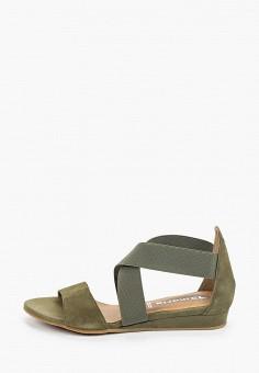 Сандалии, Tamaris, цвет: зеленый. Артикул: TA171AWIKBK9. Обувь / Обувь с увеличенной полнотой