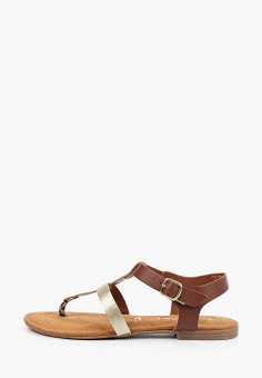 Сандалии, Tamaris, цвет: коричневый. Артикул: TA171AWIKBL1.