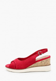 Босоножки, Tamaris, цвет: красный. Артикул: TA171AWIKBP0. Обувь / Босоножки