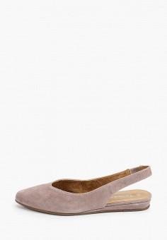 Туфли, Tamaris, цвет: бежевый. Артикул: TA171AWIKBT8. Обувь
