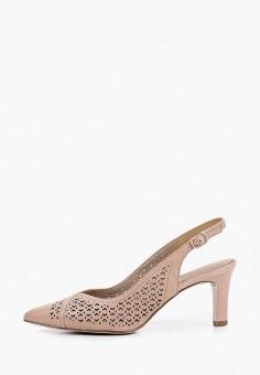 Туфли, Tamaris, цвет: бежевый. Артикул: TA171AWIKBU6. Обувь / Туфли