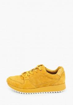 Кроссовки, Tamaris, цвет: желтый. Артикул: TA171AWISJA2. Обувь / Обувь с увеличенной полнотой