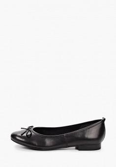 Балетки, Tamaris, цвет: черный. Артикул: TA171AWKFMO0. Обувь / Балетки
