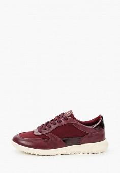 Кроссовки, Tamaris, цвет: бордовый. Артикул: TA171AWKFMQ4. Обувь / Кроссовки и кеды