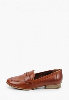 Лоферы, Tamaris, цвет: коричневый. Артикул: TA171AWKFMS3. Обувь / Туфли