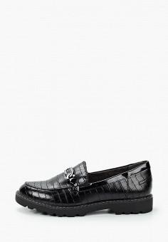 Лоферы, Tamaris, цвет: черный. Артикул: TA171AWKFMS8. Обувь / Туфли