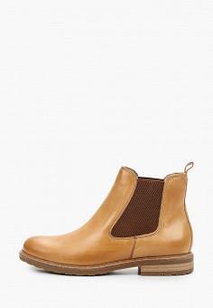 Ботинки, Tamaris, цвет: бежевый. Артикул: TA171AWKFMT2. Обувь / Ботинки / Челси