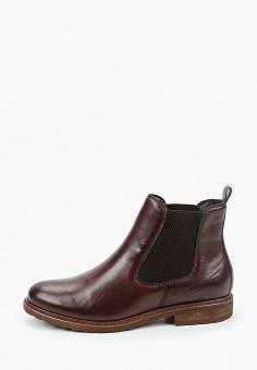Ботинки, Tamaris, цвет: коричневый. Артикул: TA171AWKFMT3. Обувь / Ботинки / Челси