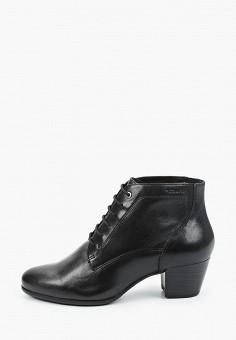 Ботильоны, Tamaris, цвет: черный. Артикул: TA171AWKFMT4. Обувь / Ботильоны